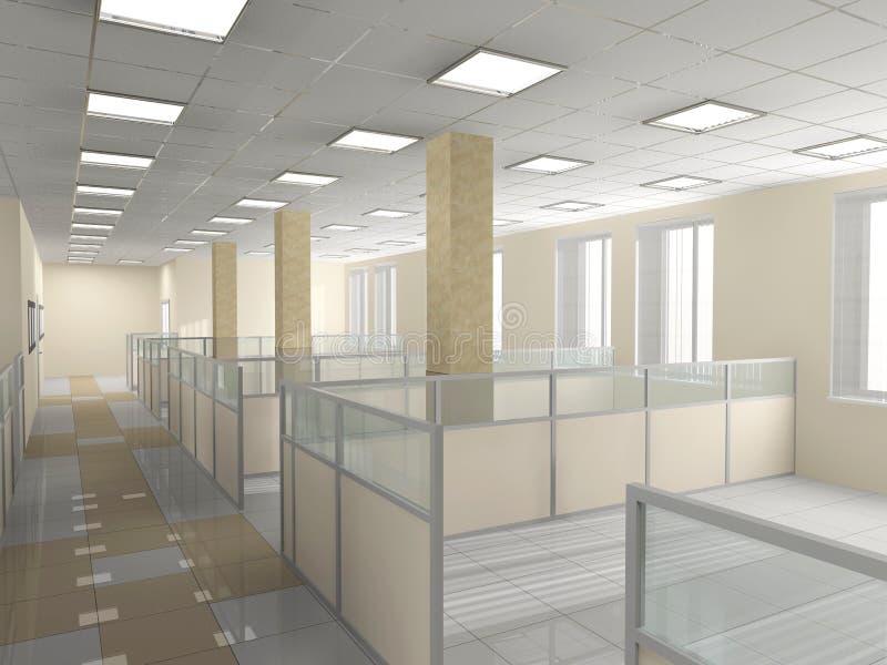 εσωτερικό γραφείο διανυσματική απεικόνιση