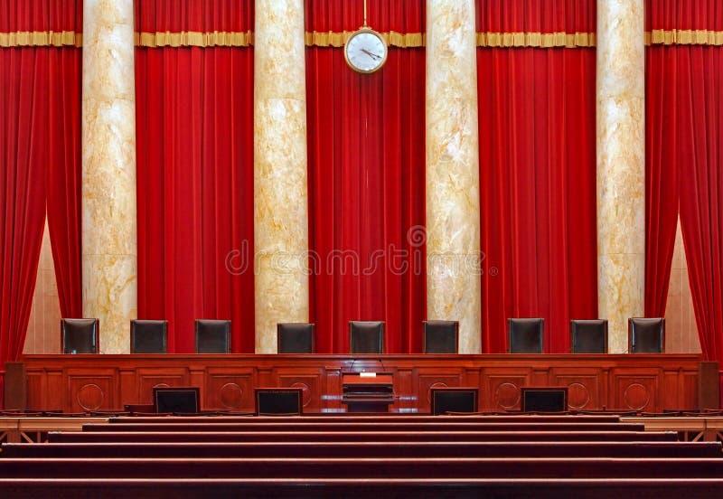 Εσωτερικό δικαστηρίων στο Ηνωμένο ανώτατο δικαστήριο στοκ εικόνες