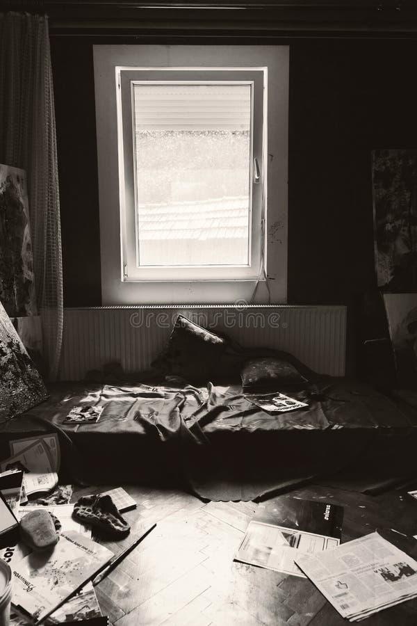 Εσωτερικό δωματίων καλλιτέχνη στοκ φωτογραφίες