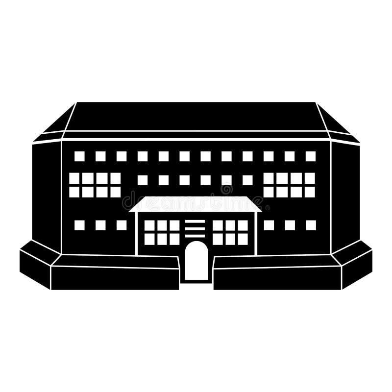 Εσωτερικό εικονίδιο μπροστινής άποψης χώρων, απλό ύφος απεικόνιση αποθεμάτων