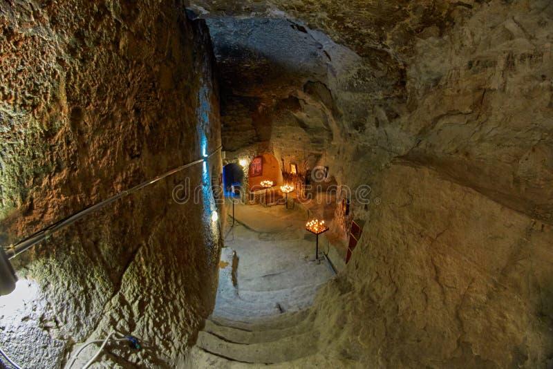Εσωτερικό εκκλησιών βουνών Vardzia στοκ εικόνα με δικαίωμα ελεύθερης χρήσης