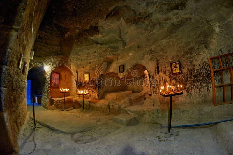 Εσωτερικό εκκλησιών βουνών Vardzia στοκ φωτογραφίες