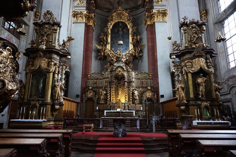 εσωτερικό εκκλησιών της Πράγας στοκ εικόνα με δικαίωμα ελεύθερης χρήσης