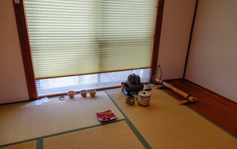 Εσωτερικό ενός παραδοσιακού ιαπωνικού παλατιού στοκ εικόνες