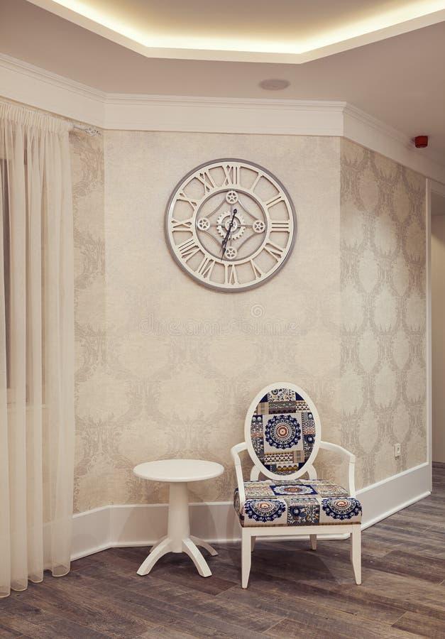 Εσωτερικό ενός σύγχρονου ξενοδοχείου στοκ φωτογραφίες