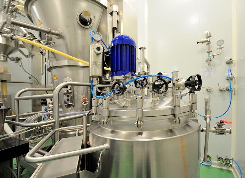 Εσωτερικό εργοστάσιο φαρμάκων στοκ εικόνα
