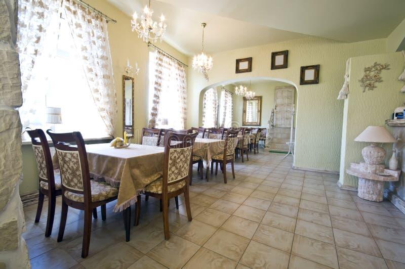εσωτερικό εστιατόριο αγροτικό στοκ εικόνα