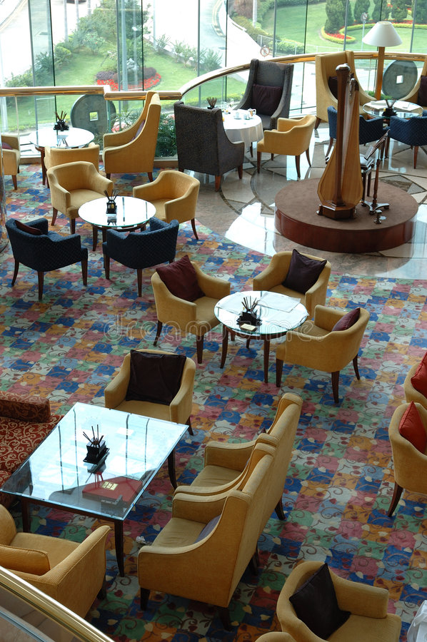 εσωτερικό εστιατόριο ξενοδοχείων στοκ φωτογραφίες με δικαίωμα ελεύθερης χρήσης