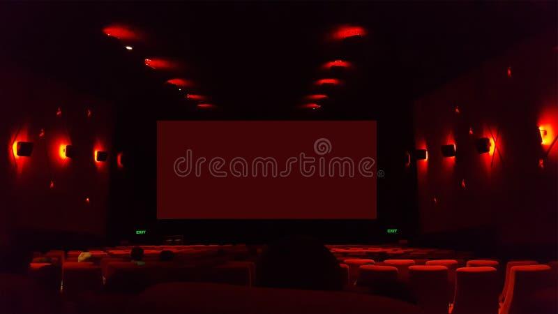 Εσωτερικό θέατρο κινηματογράφων στοκ φωτογραφίες με δικαίωμα ελεύθερης χρήσης
