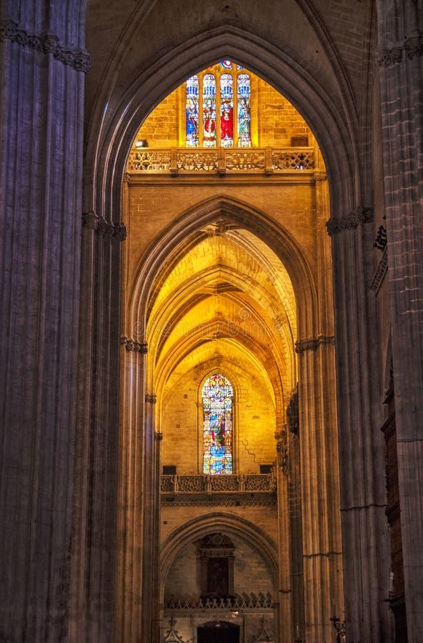 Εσωτερικό καθεδρικών ναών της Σεβίλλης, Ανδαλουσία, Ισπανία στοκ εικόνα