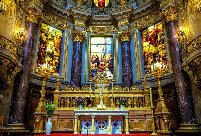 Εσωτερικό καθεδρικών ναών του Βερολίνου, Γερμανία στοκ φωτογραφία με δικαίωμα ελεύθερης χρήσης