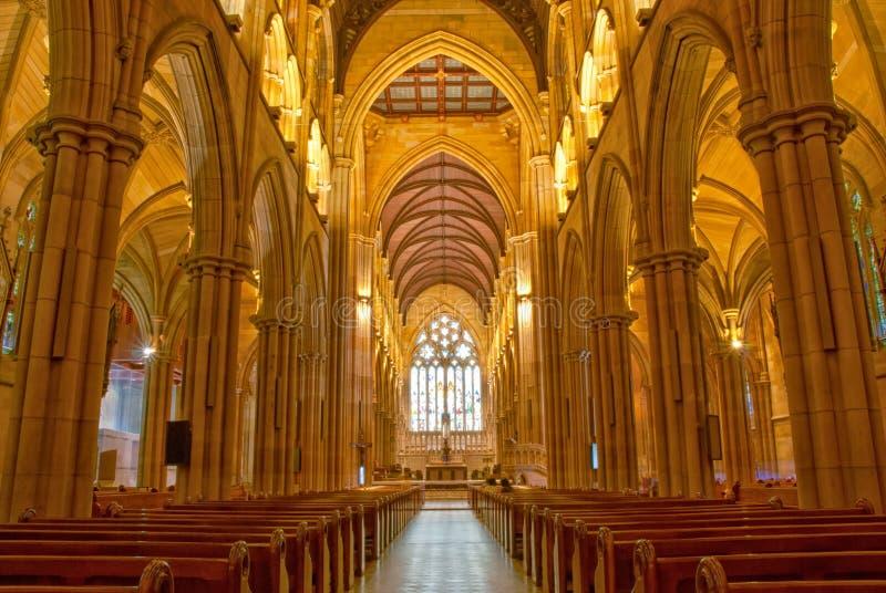 Εσωτερικό καθεδρικών ναών του ST Mary, Σίδνεϊ Αυστραλία στοκ εικόνες