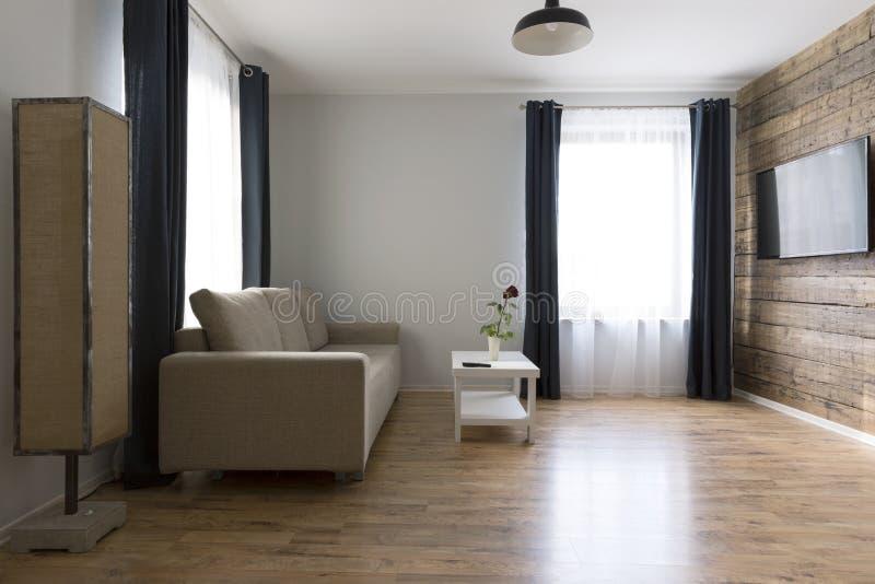 Εσωτερικό καθιστικών στο Σκανδιναβικό ύφος στοκ φωτογραφία με δικαίωμα ελεύθερης χρήσης