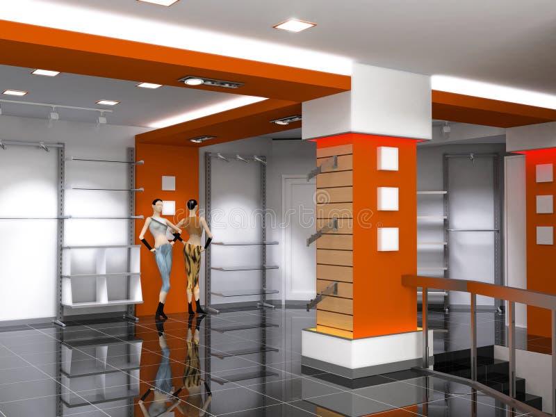 εσωτερικό κατάστημα διανυσματική απεικόνιση
