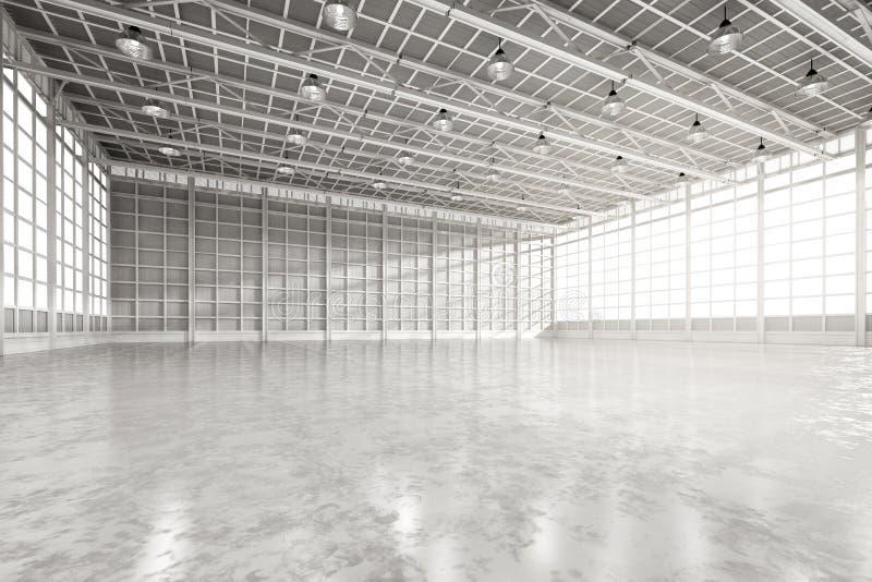 Εσωτερικό κενό εργοστάσιο ελεύθερη απεικόνιση δικαιώματος