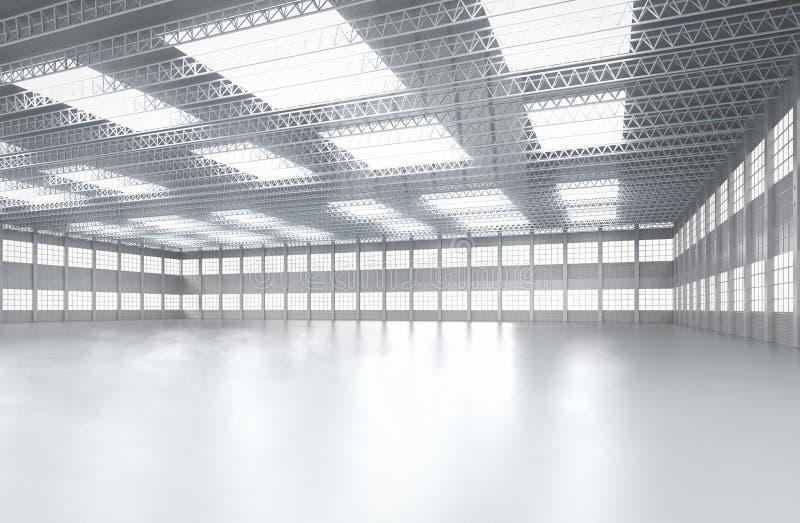 Εσωτερικό κενό εργοστάσιο απεικόνιση αποθεμάτων