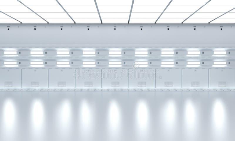 Εσωτερικό κενό εργοστάσιο διανυσματική απεικόνιση