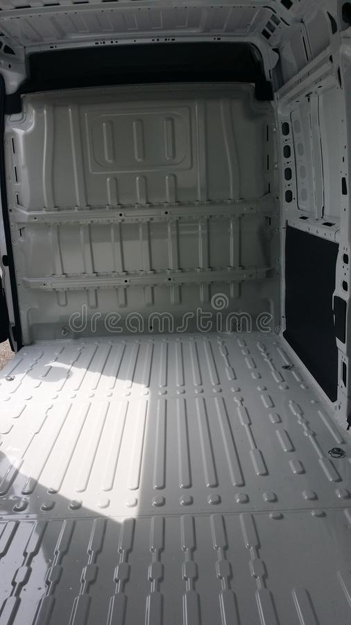 Εσωτερικό κενό φορτηγό στοκ εικόνες