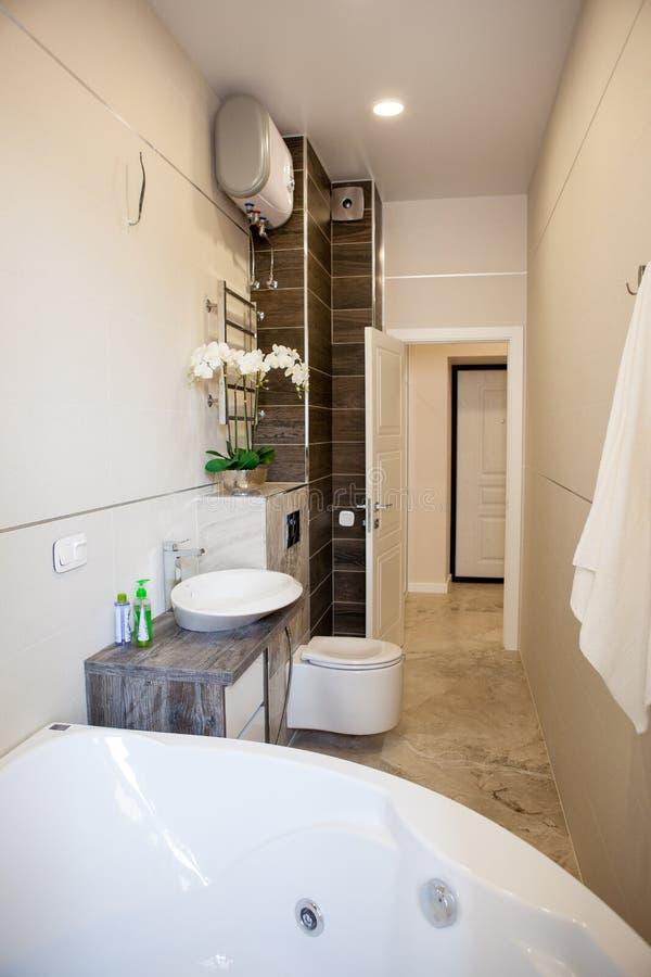 Εσωτερικό, κουζίνα, λουτρό, καθιστικό, διάδρομος, διάδρομος, μελέτη στοκ εικόνες