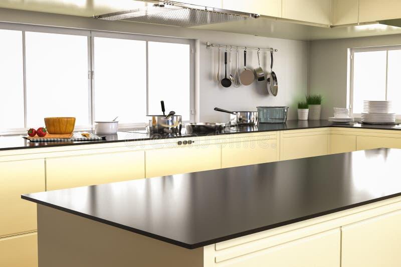 Εσωτερικό κουζινών με τον κενό μετρητή απεικόνιση αποθεμάτων