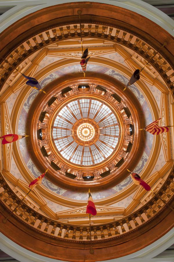 Εσωτερικό κρατικού Capitol του Κάνσας στοκ εικόνα με δικαίωμα ελεύθερης χρήσης