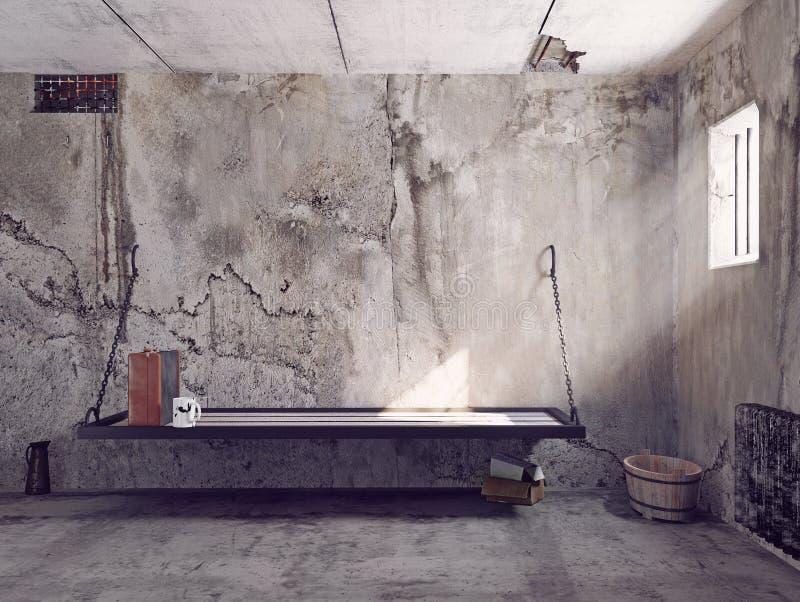 Εσωτερικό κυττάρων φυλακών διανυσματική απεικόνιση