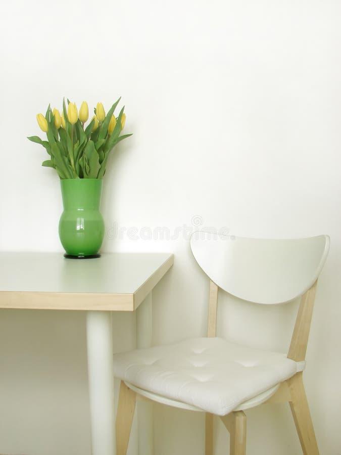 εσωτερικό λευκό κουζι& στοκ εικόνα