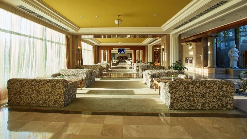 Εσωτερικό λόμπι ξενοδοχείων στοκ εικόνα