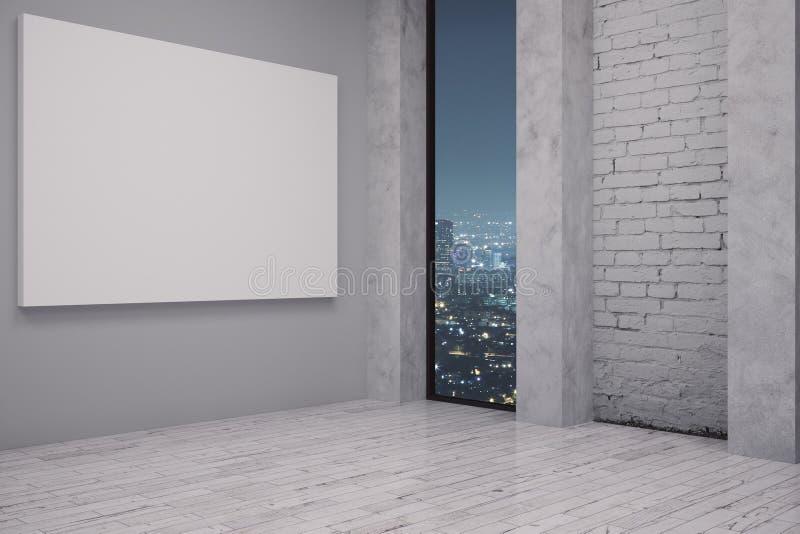Εσωτερικό με το κενό whiteboard διανυσματική απεικόνιση