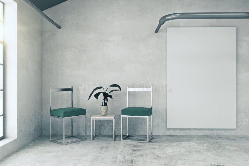 Εσωτερικό με το κενό whiteboard ελεύθερη απεικόνιση δικαιώματος