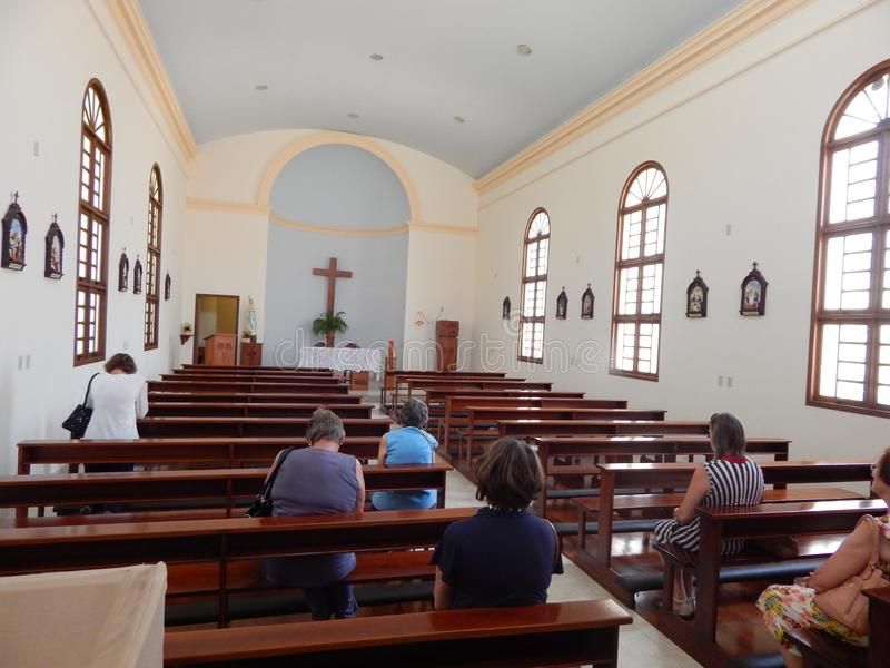 Εσωτερικό μιας εκκλησίας στοκ εικόνες