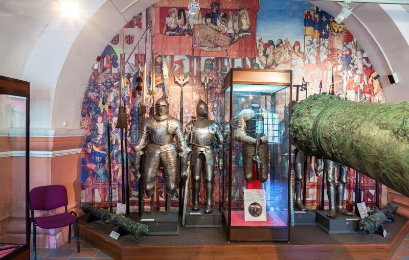 Εσωτερικό μια από τις αίθουσες του μουσείου του πυροβολικού στοκ φωτογραφίες