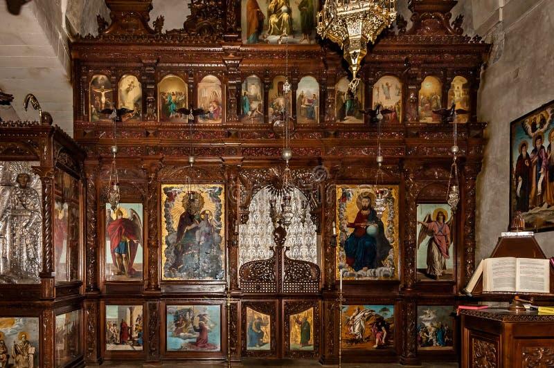 Εσωτερικό μοναστηριών Arkadi στοκ φωτογραφία με δικαίωμα ελεύθερης χρήσης