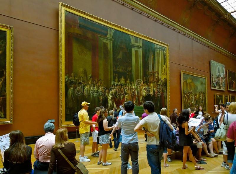 Εσωτερικό μουσείο του Λούβρου τέχνης στοκ φωτογραφία με δικαίωμα ελεύθερης χρήσης