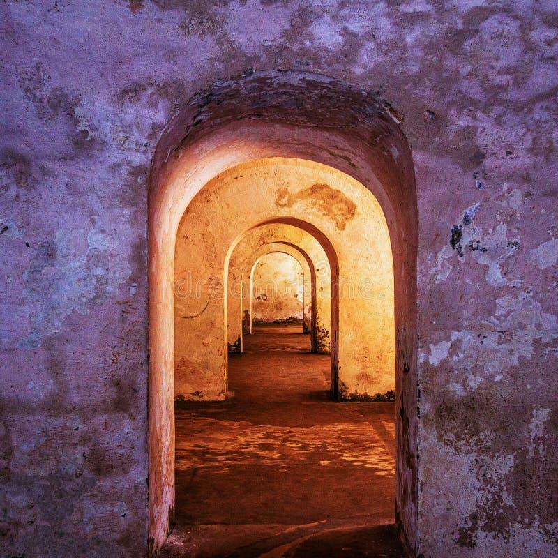 Εσωτερικό οχυρών EL Morro στοκ εικόνες με δικαίωμα ελεύθερης χρήσης