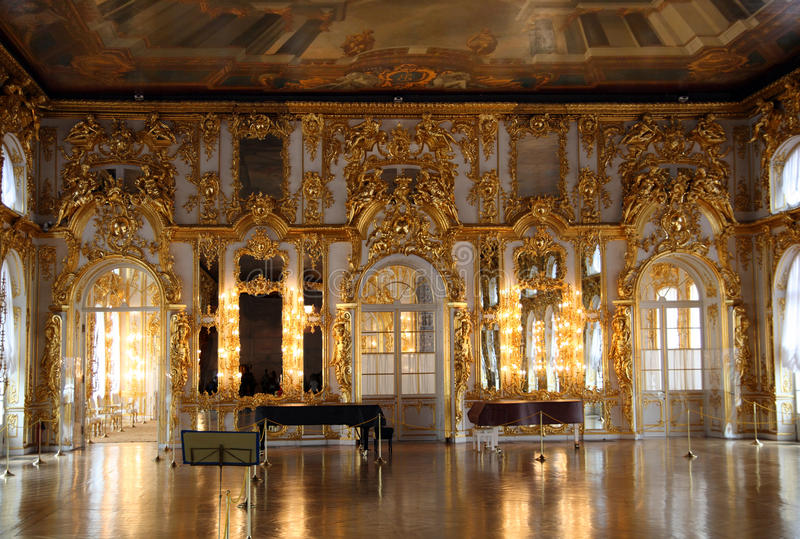 εσωτερικό παλάτι αιθουσών pushkin στοκ φωτογραφία με δικαίωμα ελεύθερης χρήσης