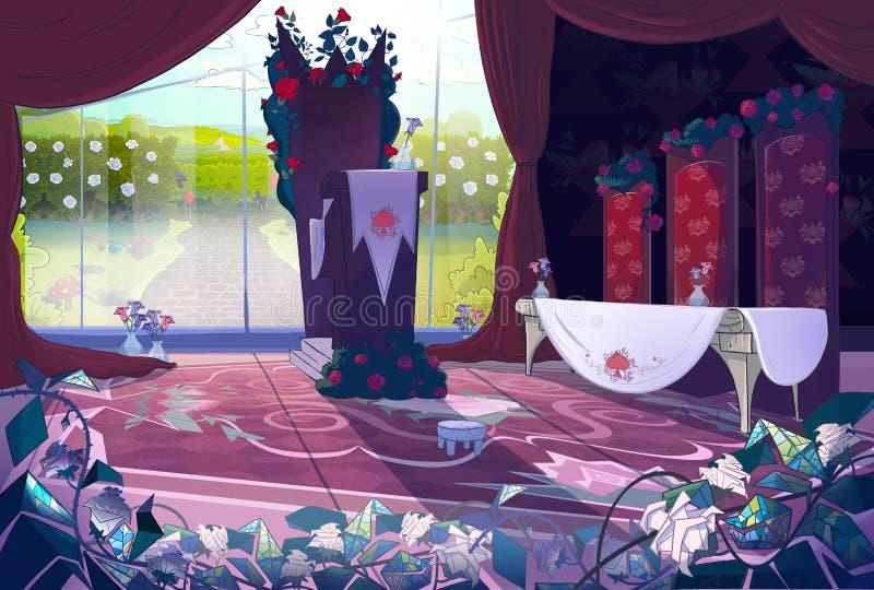 Εσωτερικό παλατιών βασίλισσας απεικόνιση αποθεμάτων