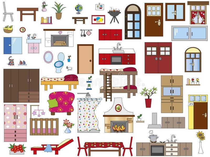 Εσωτερικό σπίτι διανυσματική απεικόνιση