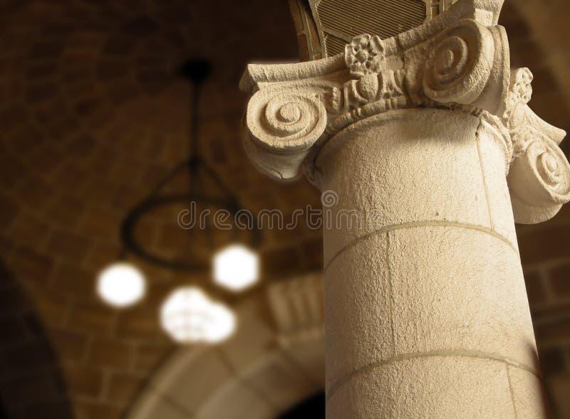 εσωτερικό στηλών κάστρων στοκ εικόνα