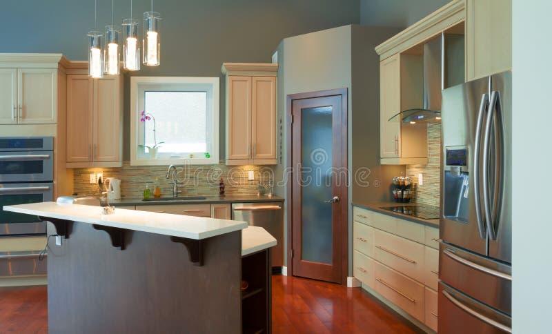 Εσωτερικό σχέδιο κουζινών στοκ φωτογραφίες