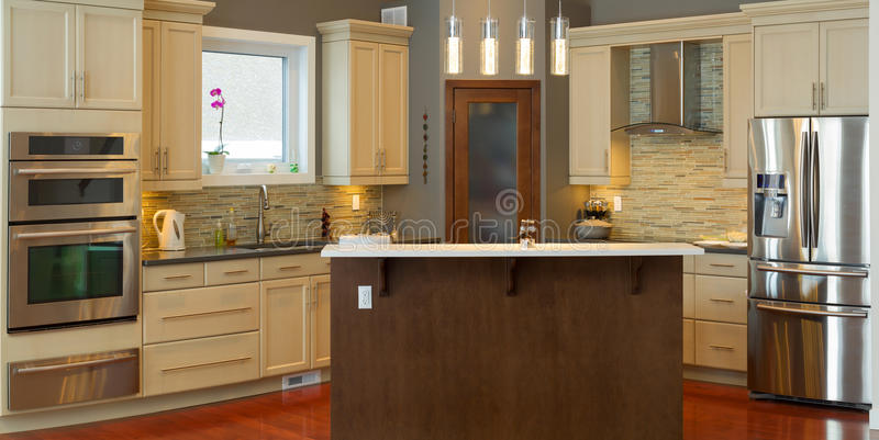 Εσωτερικό σχέδιο κουζινών στοκ εικόνα