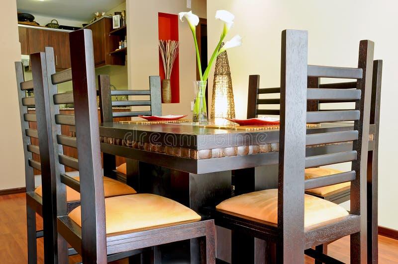 Εσωτερικό σχέδιο - dinning δωμάτιο στοκ φωτογραφία με δικαίωμα ελεύθερης χρήσης