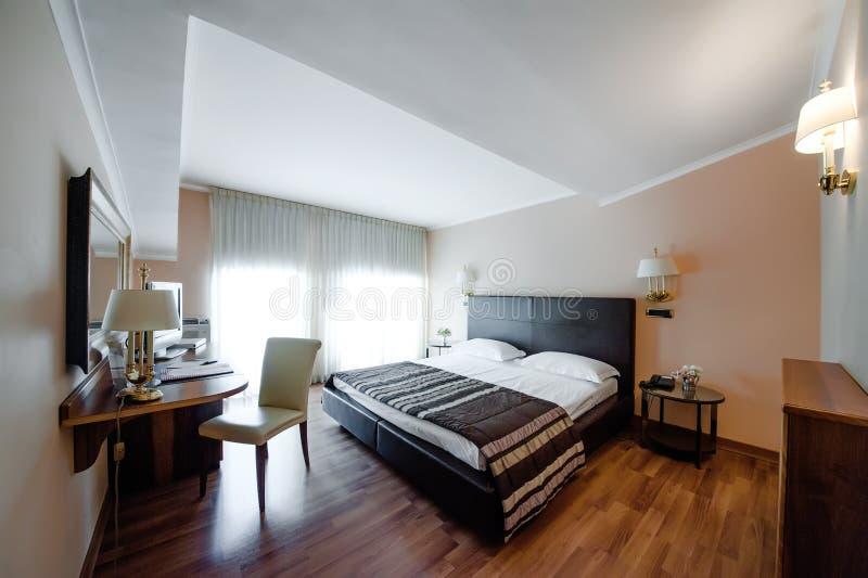 Εσωτερικό σχέδιο ξενοδοχείο κρεβατοκάμ&al στοκ φωτογραφία με δικαίωμα ελεύθερης χρήσης