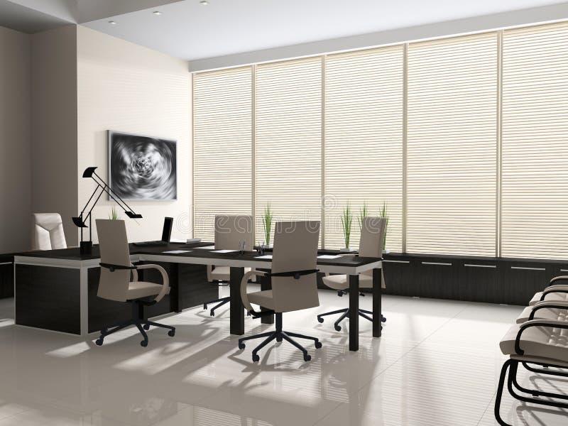 εσωτερικό σύγχρονο γραφείο ελεύθερη απεικόνιση δικαιώματος