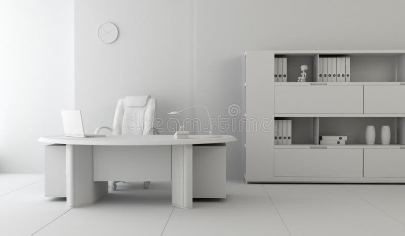εσωτερικό σύγχρονο γραφ& απεικόνιση αποθεμάτων