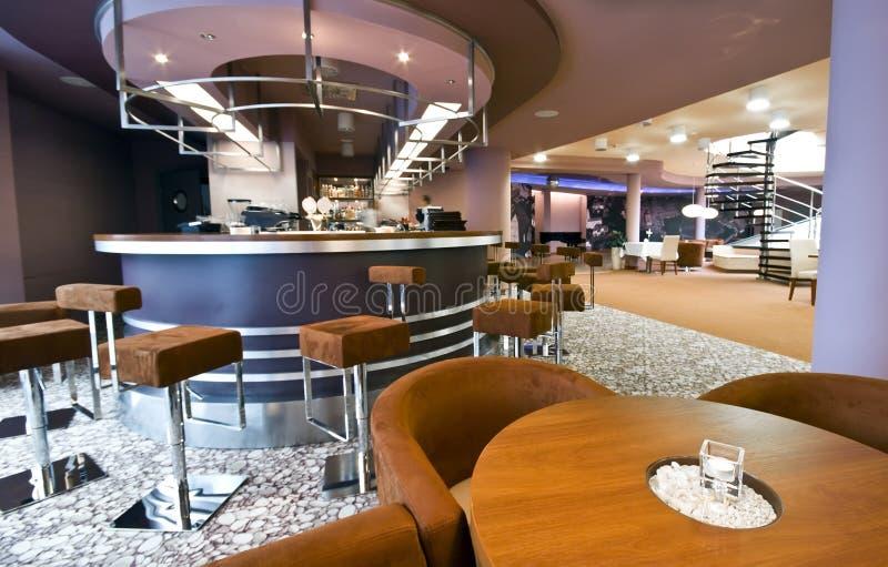 εσωτερικό σύγχρονο εστιατόριο στοκ εικόνες