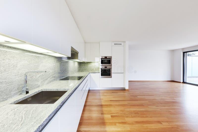 Εσωτερικό σύγχρονο κενό επίπεδο, διαμέρισμα στοκ φωτογραφία με δικαίωμα ελεύθερης χρήσης