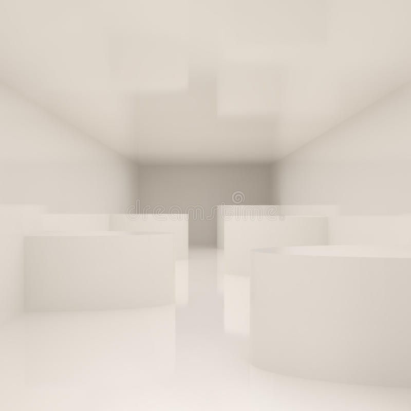 εσωτερικό σύγχρονο λε&upsilon απεικόνιση αποθεμάτων