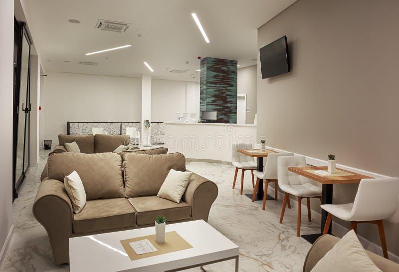 Εσωτερικό σύγχρονο σχέδιο ξενοδοχείων στοκ φωτογραφία με δικαίωμα ελεύθερης χρήσης