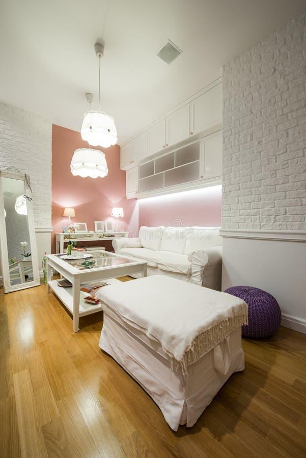 εσωτερικό σύγχρονο δωμάτιο διαβίωσης στοκ εικόνα με δικαίωμα ελεύθερης χρήσης
